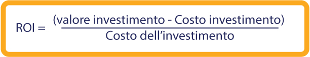 Guida al calcolo del ROI formula percalcolare il ROI (return of investment) ROI = (Current Value of Investment - Cost of Investment) / Cost of Investment