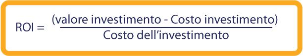 Guida al calcolo del ROI formula percalcolare il ROI (return of investment) ROI = (Current Value of Investment - Cost of Investment) / Cost of Investment